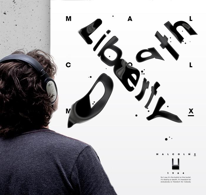 liberty poster headphones