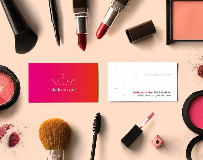 Shahrzad Cards makeup pink