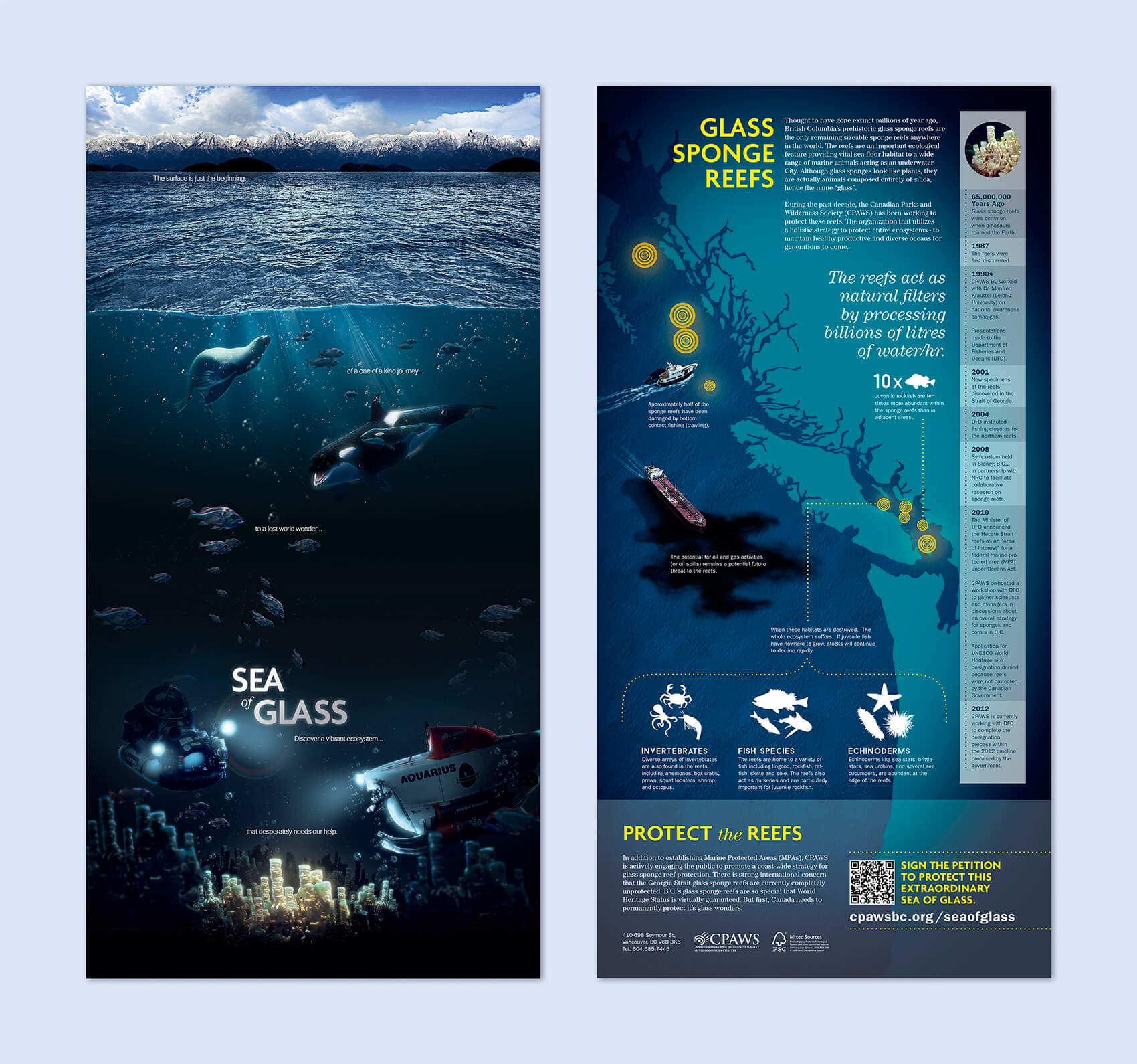 cpaws sea of glass brochure