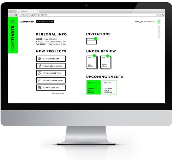 Capilano Uni Website Dashboard UI_MR