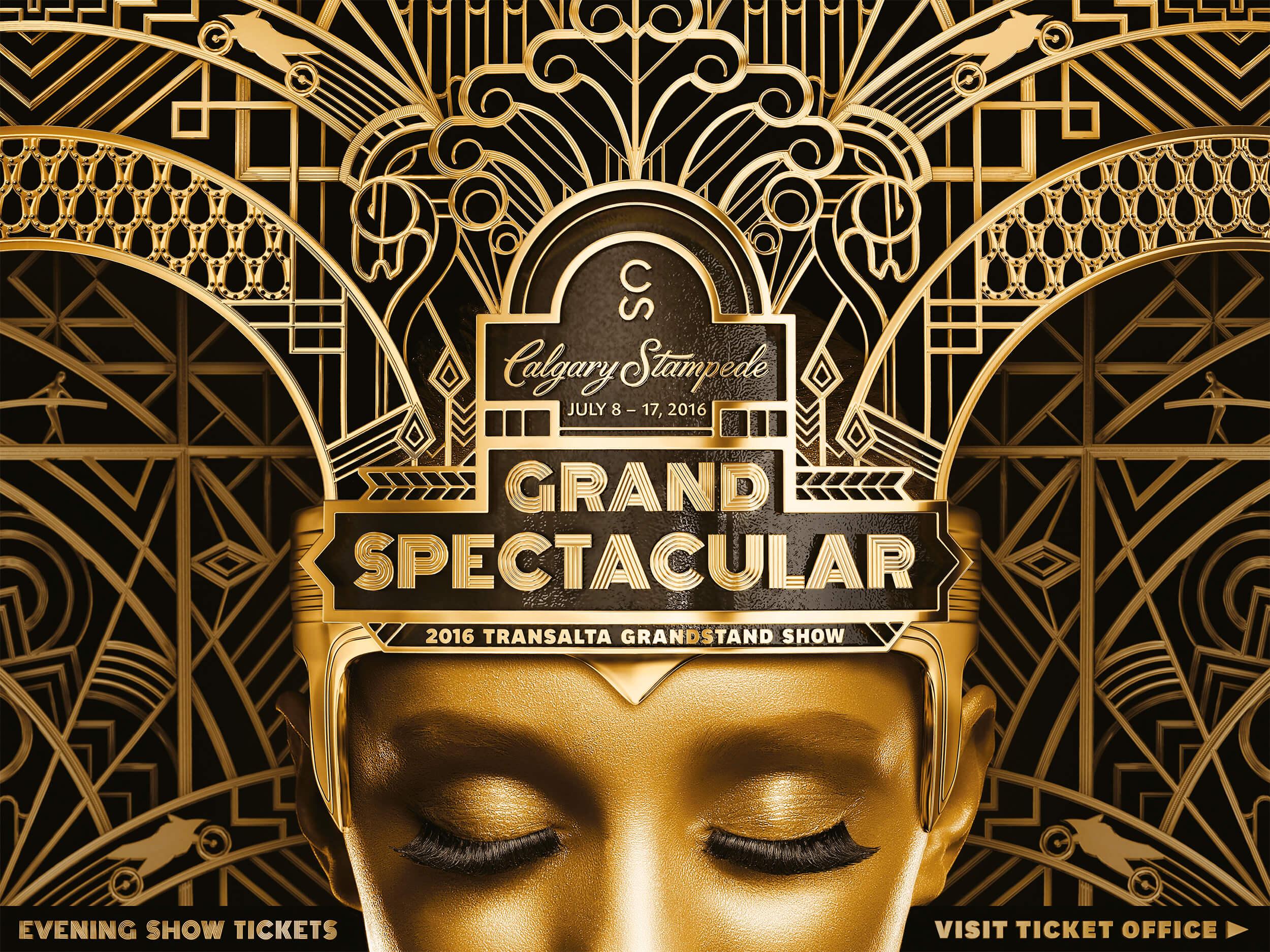 grandstand billboard stampede gold